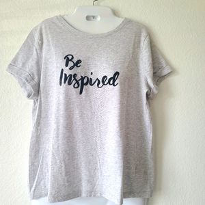 """A New Day """"Be Inspired"""" Grey T-Shirt"""